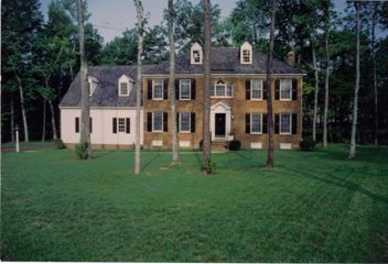 Brick Colonial House Before Landscaped