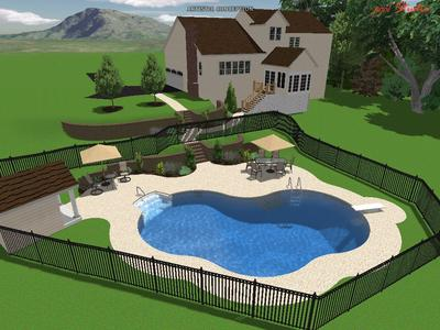 Do we need a retaining wall next to a pool and more design for Pool design questions