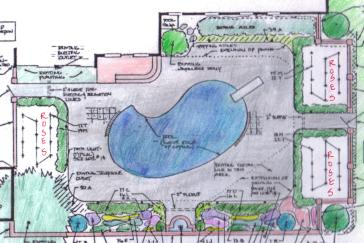 Landscape plan colored