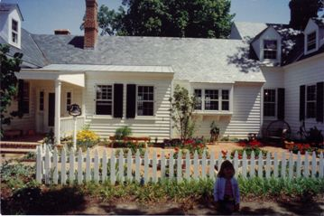 Low White Picket Fence by Colonial Kitchen Garden
