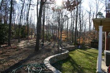 Stone Retaining Wall before Planting