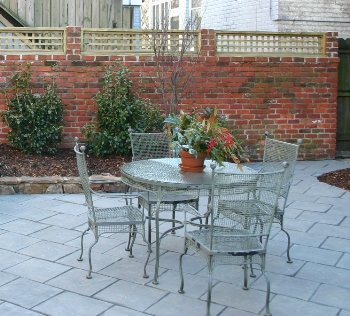 Brick Wall with English Lattice Topper