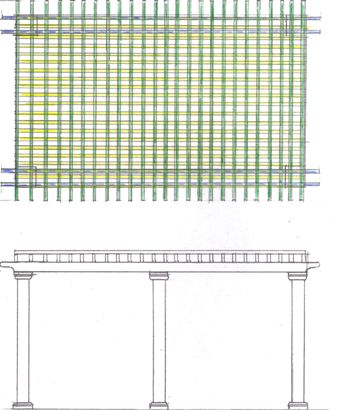 Pergola Detail Using Composite Lumber