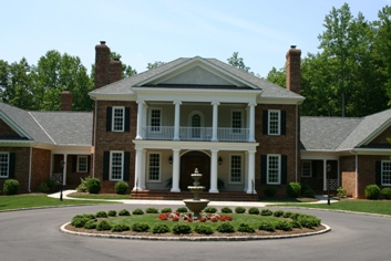 Formal Front Yard with Fountain and Great Street Appeal