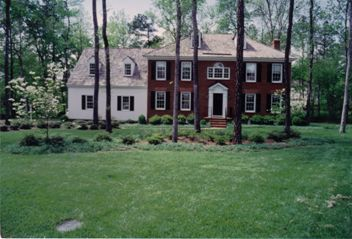A Brick Colonial House with Nice Landscaping