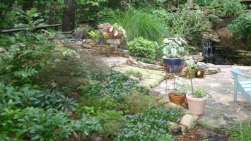 Stone Patio and Pond