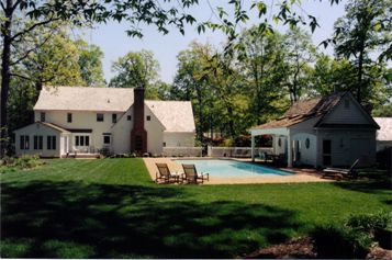 Gunite swimming Pool with a white surface