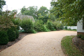 Selecting a driveway surface for Surface design landscape