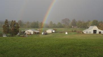 End of the Rainbow at a Farm