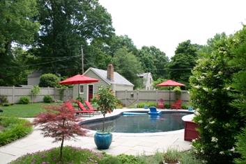 Black swimming pool